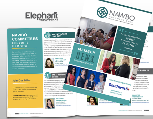 NAWBO Columbus Newsletter Design
