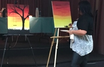Suzi our paint night instructor.  Paint night fundraiser 11/15