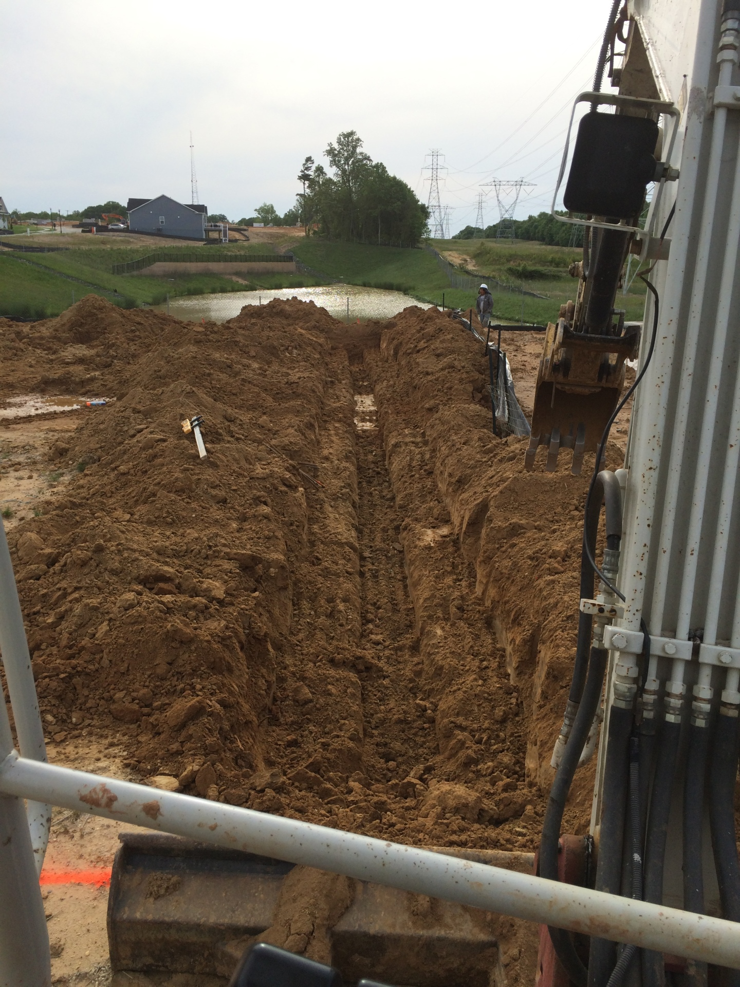 Excavation for footings