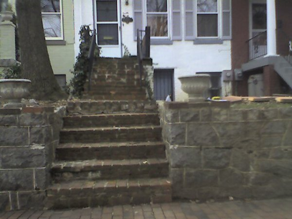 Capitol Hill Steps and porch deck (before)
