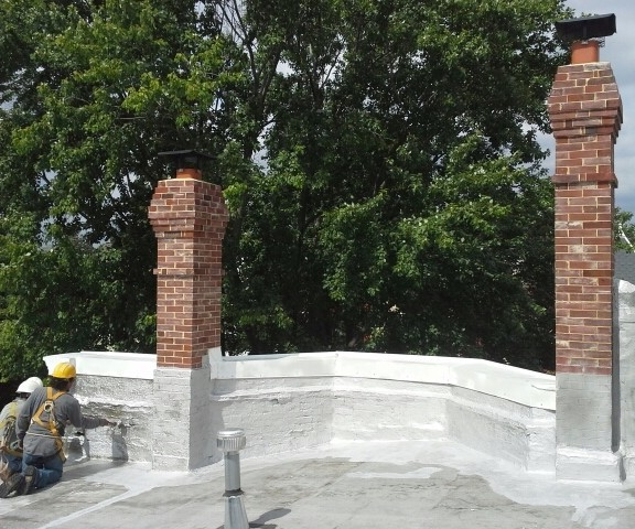 Disassembled and rebuilt three brick Chimneys. Rebuild brickwork, Historic restoration, Re-pointing, Tuck-pointing, emergency repair. Are you looking for a contractor to do work on your historic property in the Washington DC Area? Look no further than Pointing Plus Construction Company LLC. Pointing Plus has been serving the Washington DC area for thirteen years. We specialize in Re-pointing (tuck pointing), rebuilding masonry, concrete work and structural rehabilitation of historic homes.