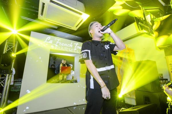 Shigga Shay performs at a Sansys event