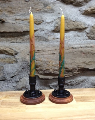 Black and Tan Candlesticks