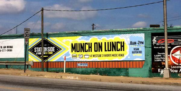 Munch on Lunch - Stationside Billboard Design