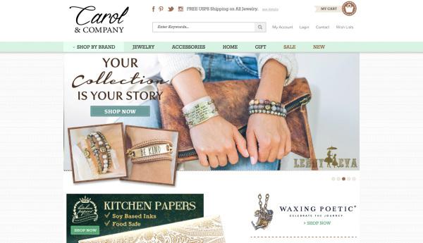 Carol & Company - Home Page Design