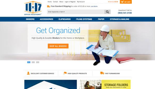 11x17.com - Home Page Design