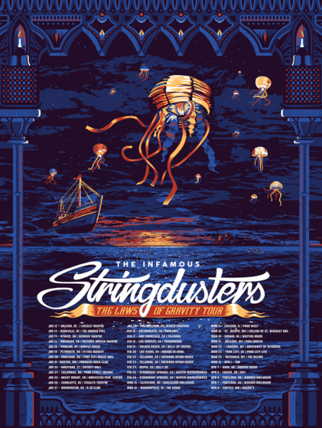 The Infamous Stringdusters - Laws of Gravity Tour Art