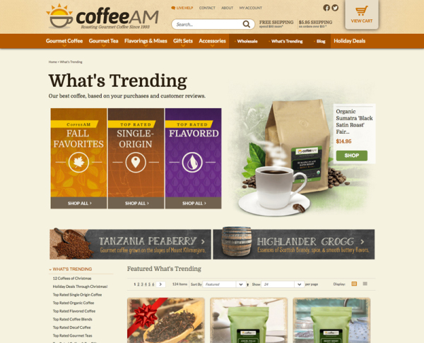 CoffeeAM - Landing Page Design
