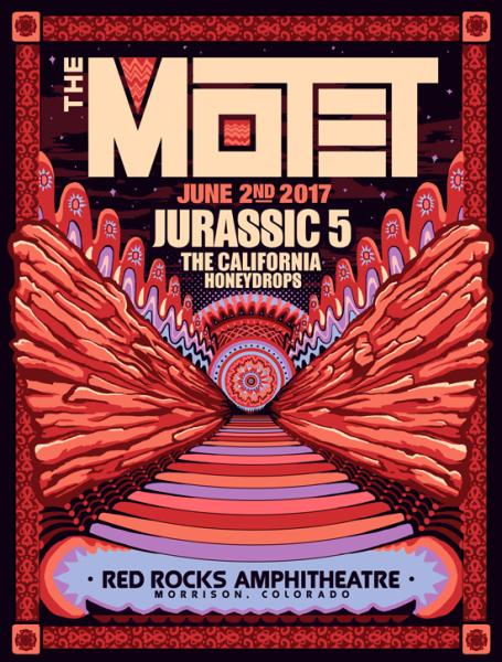 Red Rocks Gig poster