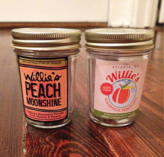 Peach Moonshine Label and Peach Jam Label