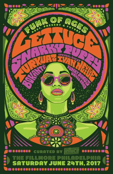 Lettuce Snarky Puppy poster art