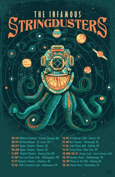 Infamous Stringdusters 2017 Tour Poster