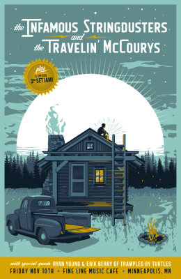 Travelin' McCourys and Infamous Stringdusters - Poster Design