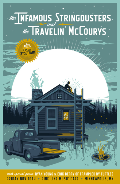 The Infamous Stringdusters and the Travelin' McCourys Poster