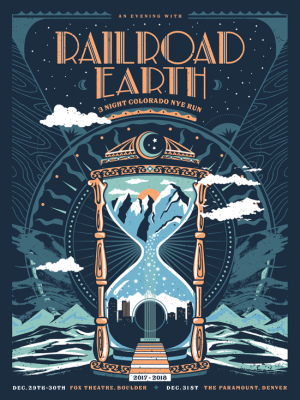 Railroad Earth New Year's poster 2017