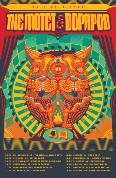 Dopapod and The Motet 2017 Tour poster