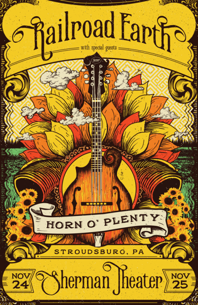 Railroad Earth Horn O plenty poster art