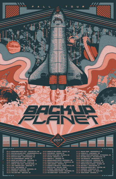 Backup Planet tour art print