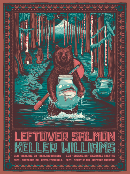 Leftover Salmon Keller Williams poster art