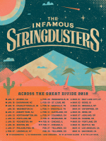 Stringdusters Tour Art - Across The Great Divide 2018