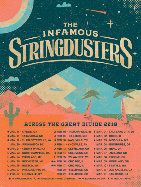 The Infamous Stringdusters - Across The Great Divide Tour art