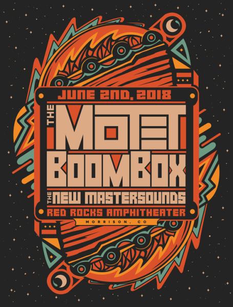 The Motet BoomBox Red Rocks print