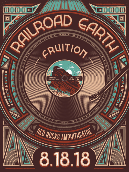 Railroad Earth 2018 Red Rocks with Fruition