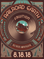 Railroad Earth Fruition Poster Red Rocks