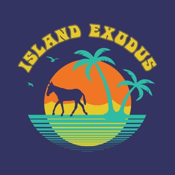 Womens tshirt design Island Exodus 9
