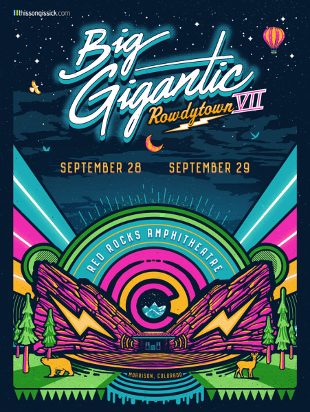 Big Gigantic poster art Rowdytown 7