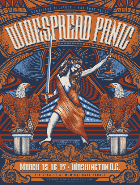 Conscious Alliance - Widespread Panic poster by Derek Perez