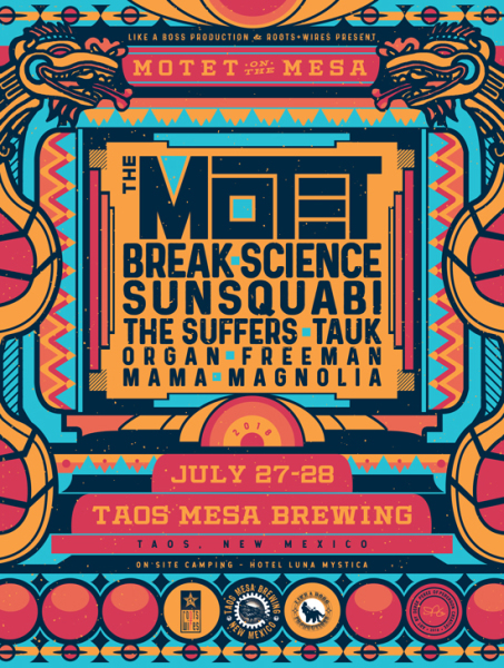 The Motet - Taos Mesa Brewing poster art