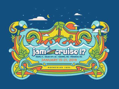 New artwork for Jam Cruise 17!