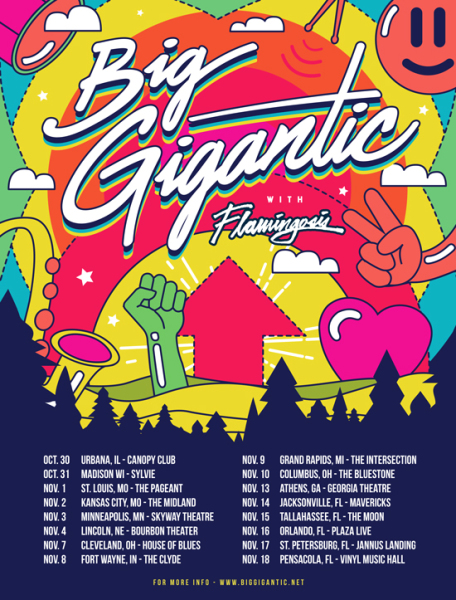 Big Gigantic fall tour poster