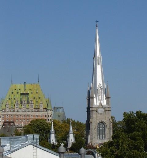 Sun on restored spire