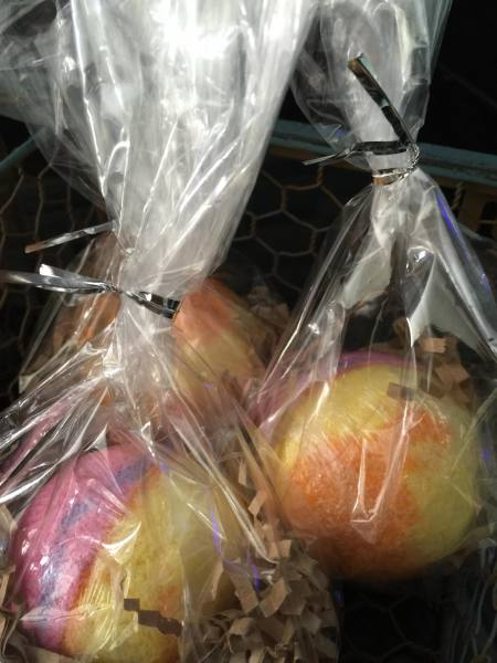 Bath Bombs are packaged and ready to go!
