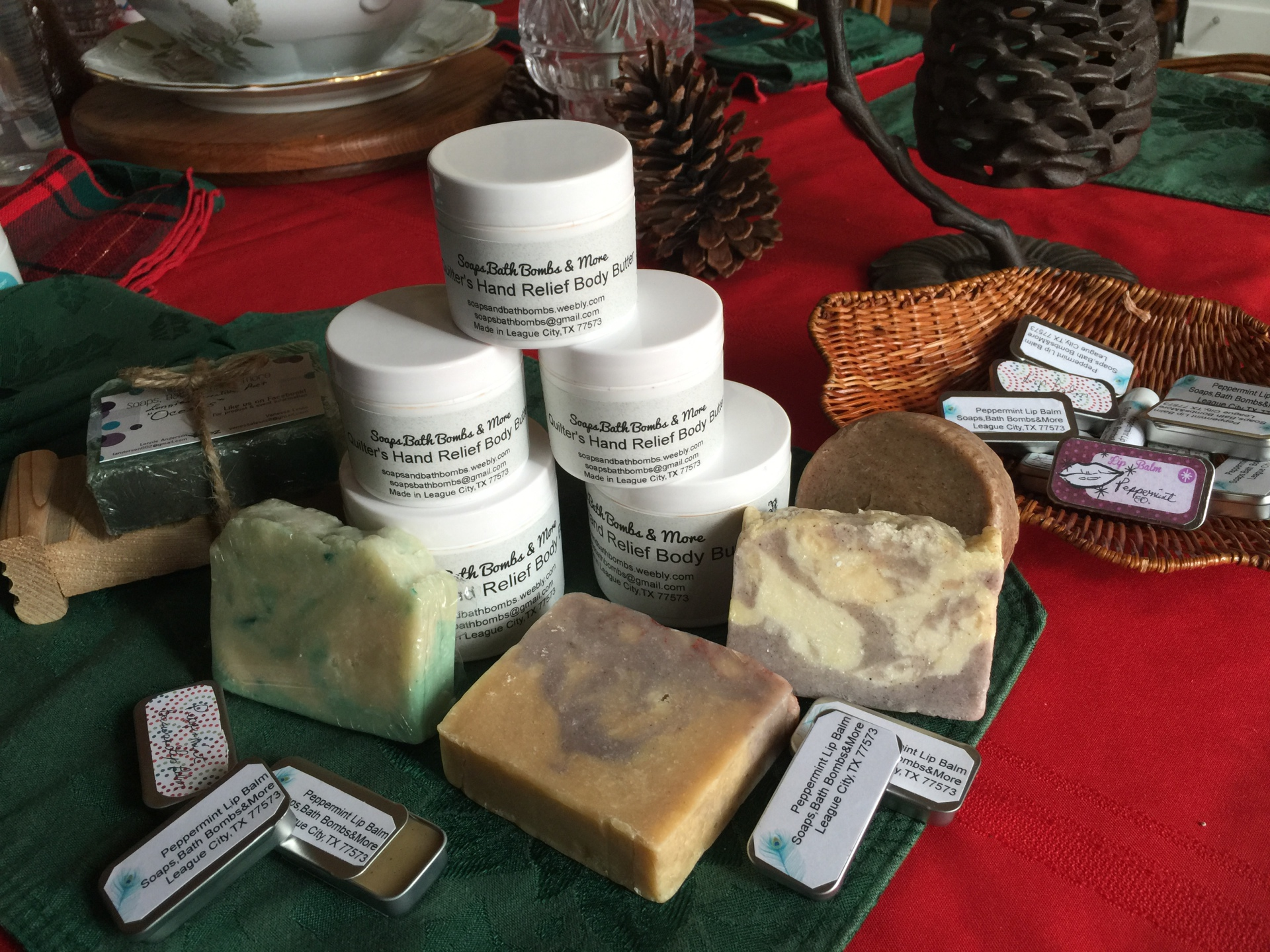 Soaps, Body Butters and Lip Balms