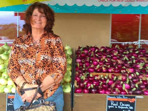 Lonnie loving the farmer's market