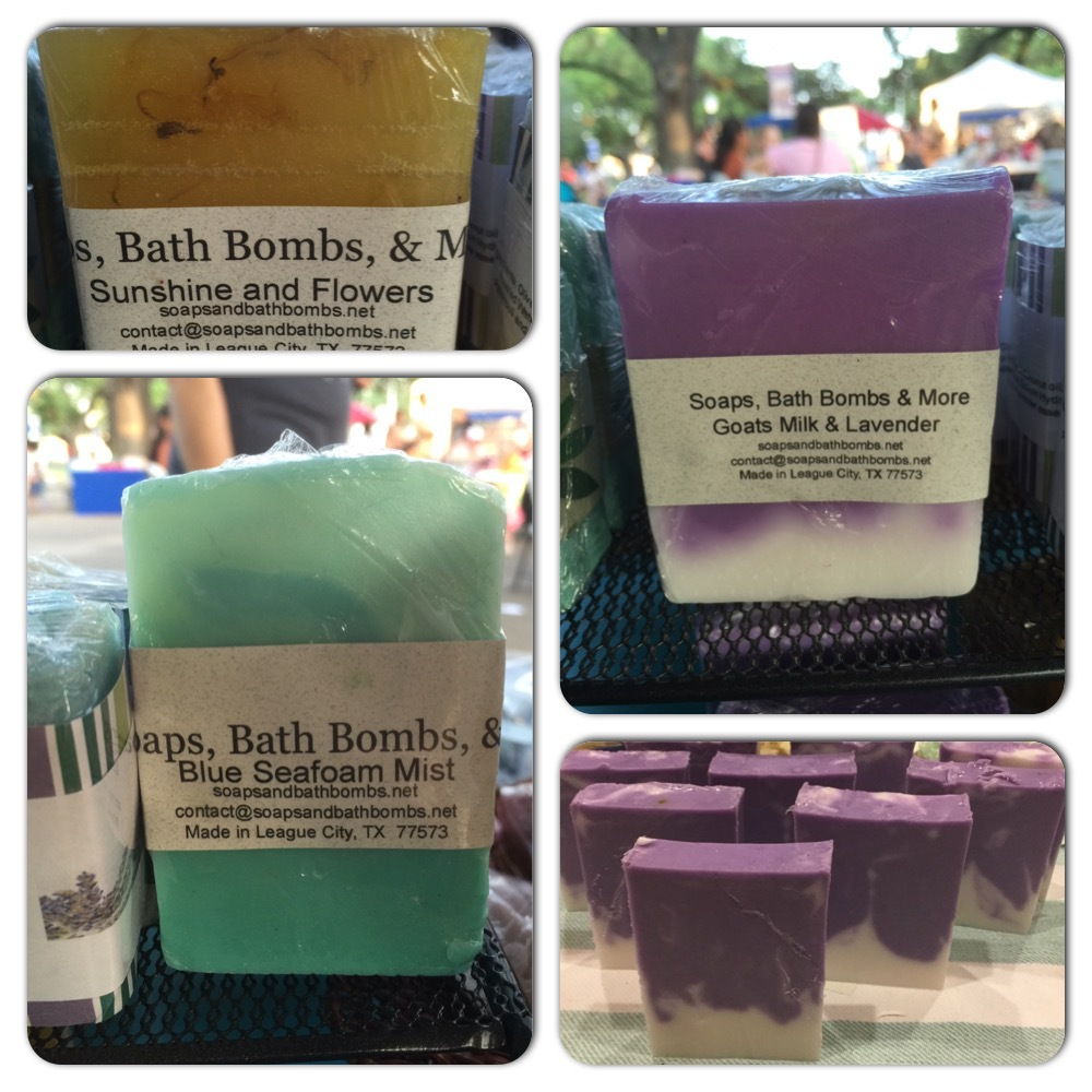 Most recent soaps at a past event. Sold well!