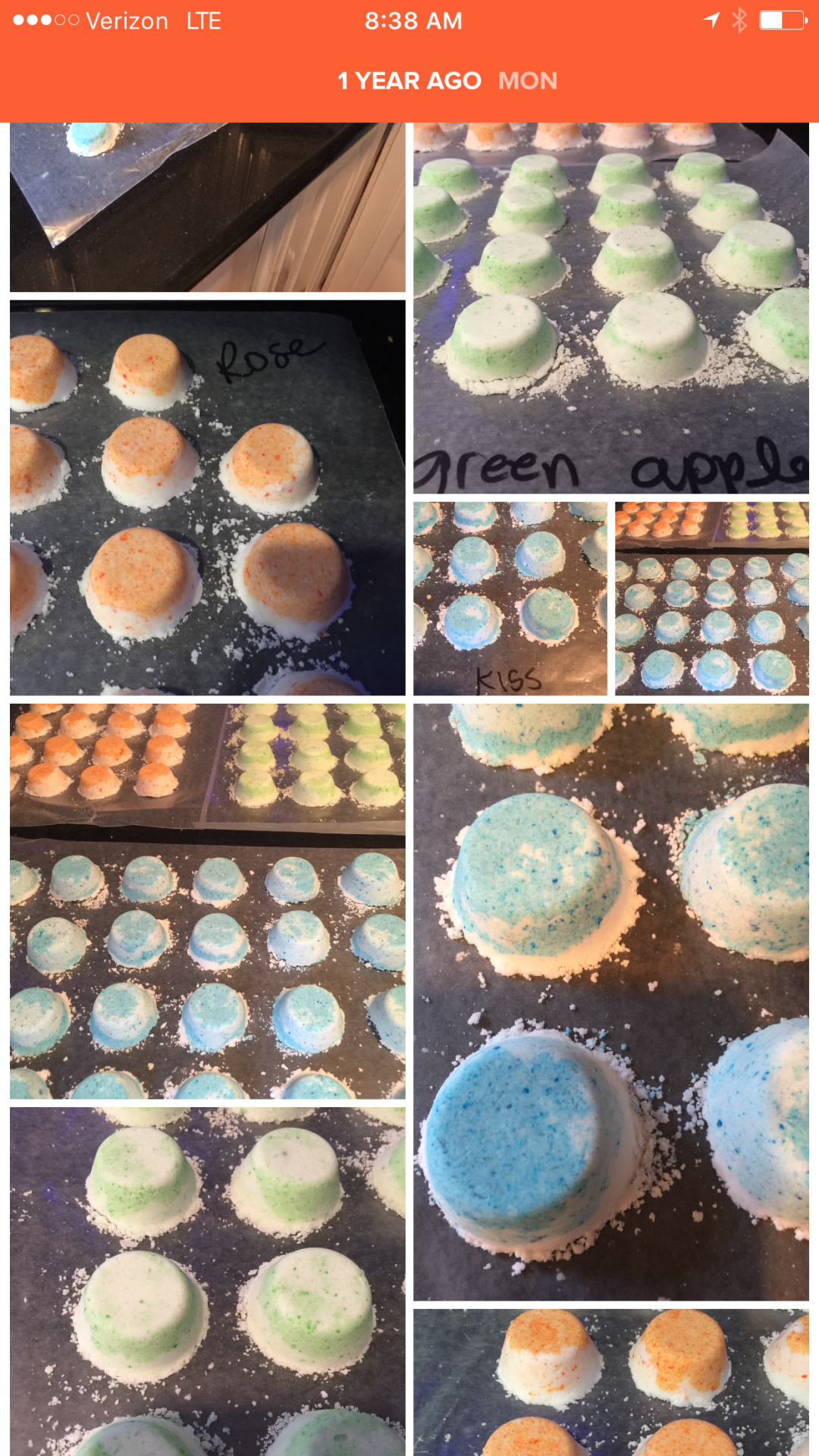 The very first bath bombs Vanessa made
