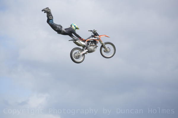 Stunt performer at TruckFest