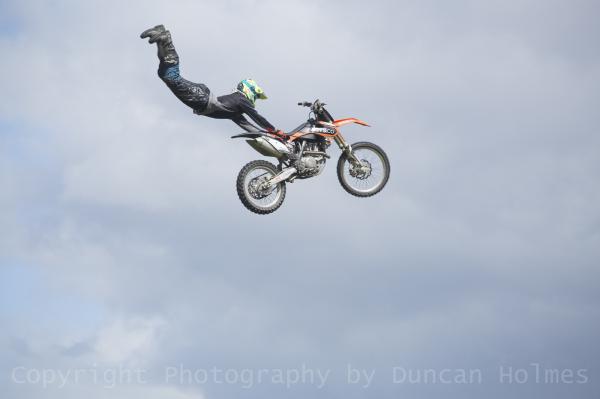 Stunt performer at TruckFest