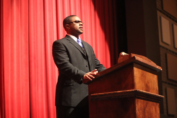 Addressing 3,000 students about relationship empowerment