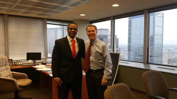 Jason Miller meeting with Joe Hogsett (Mayor of Indianapolis)