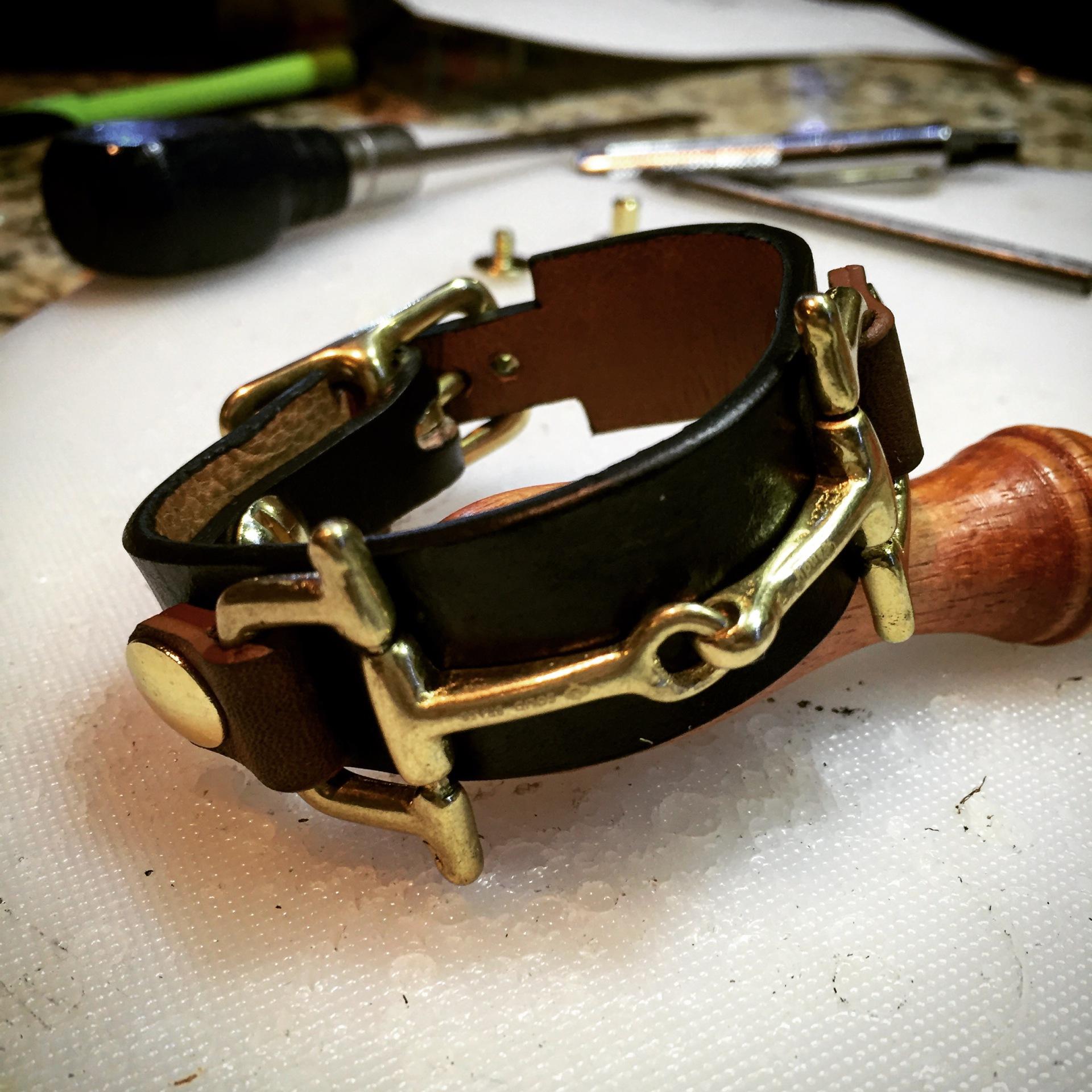 Black Horsebit Bracelet