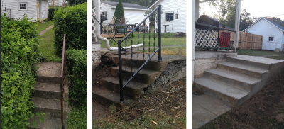 Exterior Steps Updated