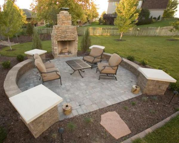 Fire pit, fireplace