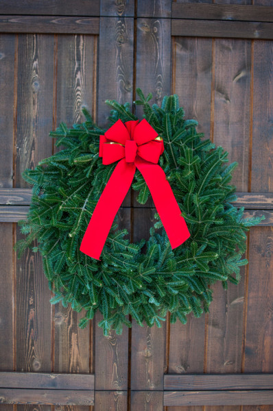 Christmas trees wreaths containers planters arrangements holiday decor