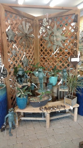 Tree, shrub, perennial, annual, tropical, decor, holiday, gift shop, water feature, pottery, statuary
