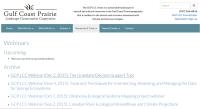 Gulf Coast & Prairies LCC webinar page